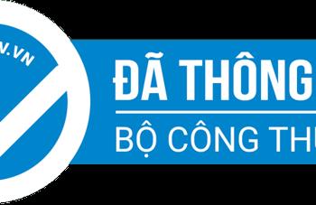 Logo khi đã thông báo website với bộ công thương